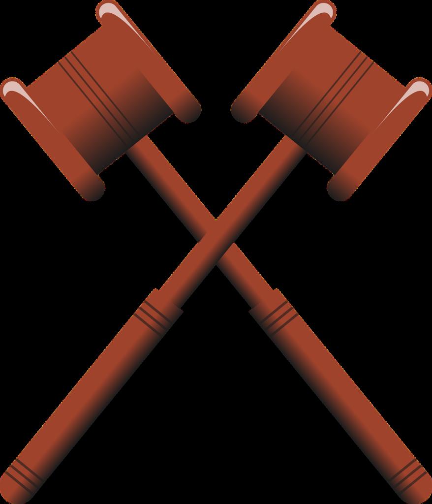 Two Gavels Crossed representing COBRA lawsuit