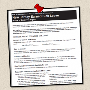 Posted New Jersey Earned Sick Leave Notice