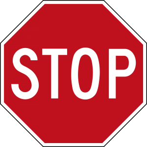 Stop Sign to pay attention to paid sick leave law issue
