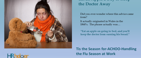 Woman who is ill during the flu season
