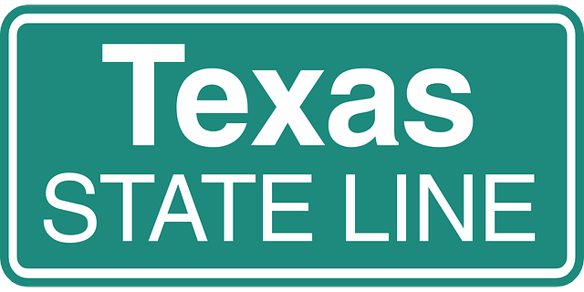 Street Sign says Texas State Line